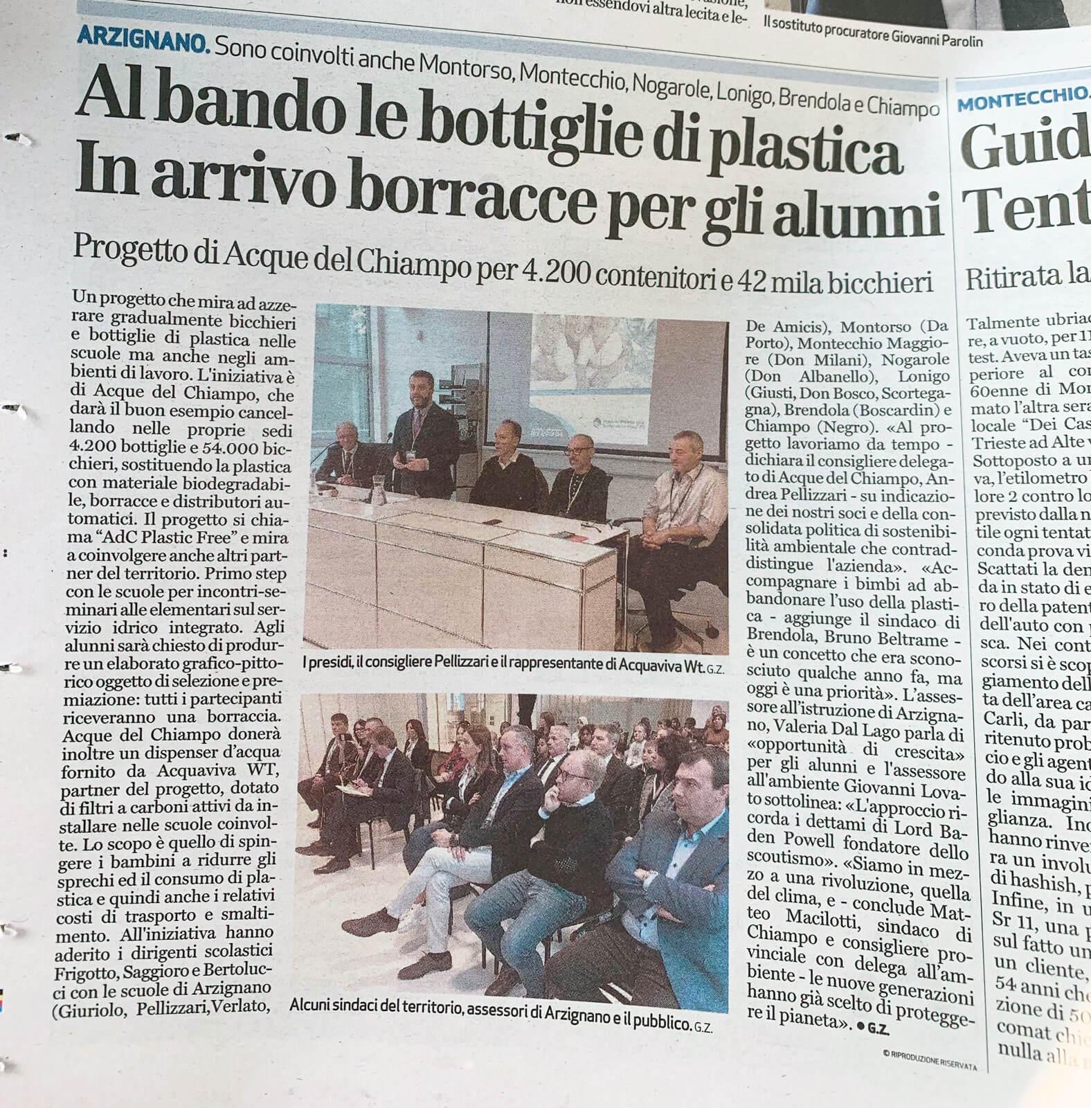 Foto Chiampo Articolo giornale